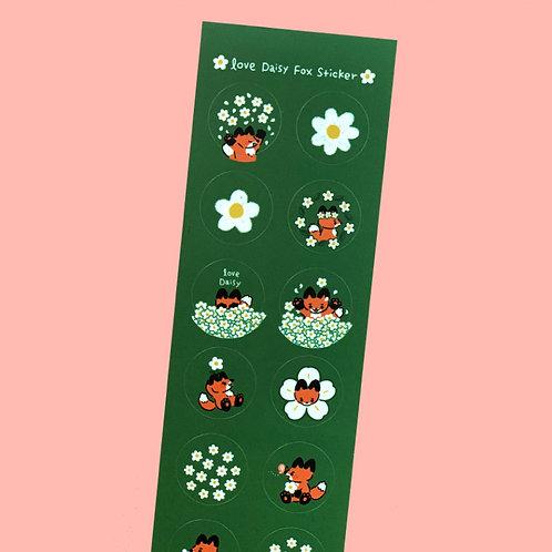 Daisy Fox Sticker