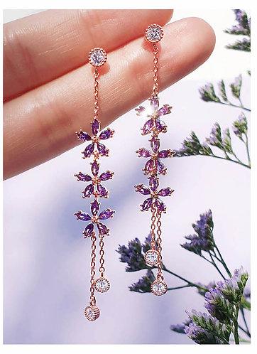 Violet Bloom Earrings