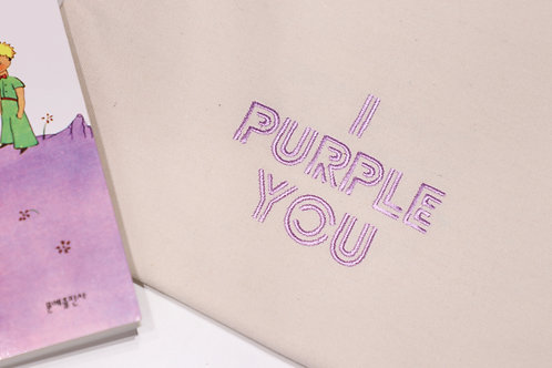 I PURPLE YOU eco bag