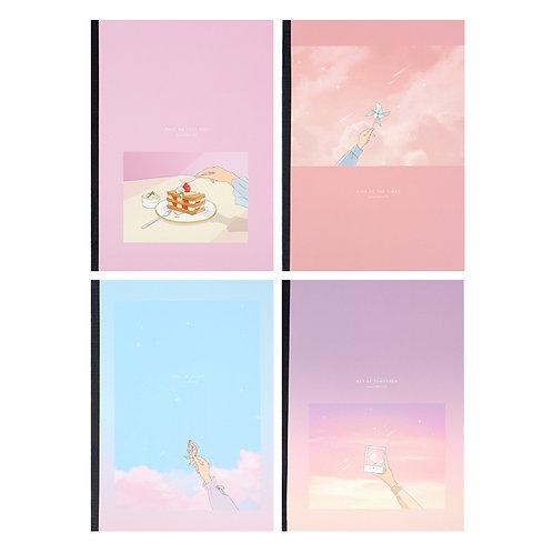 Pastel Illustrated Note
