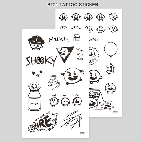 BT21 Tattoo Sticker