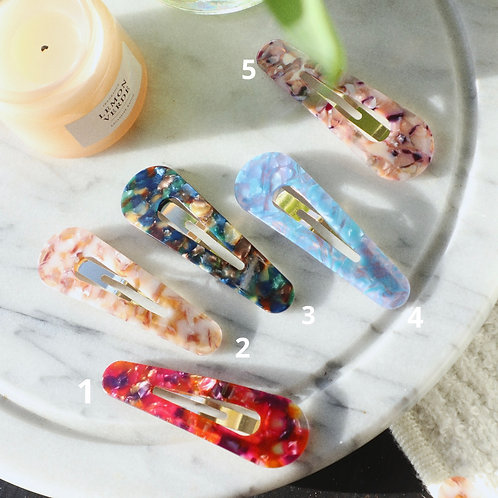 Colourful Marble Pin