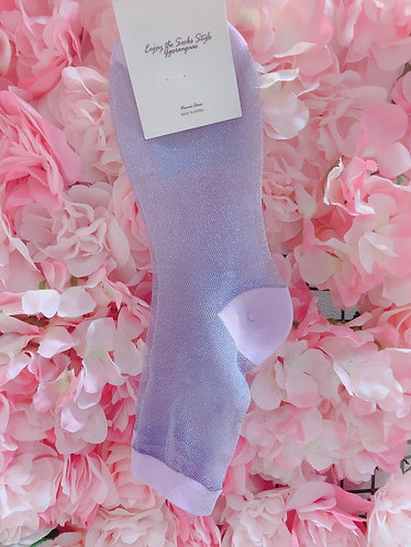 Violet Glitter Socks