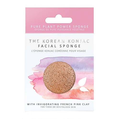 Konjac Sponge French Pink Clay