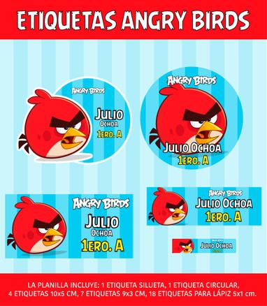 ETIQUETA ANGRY BIRDS