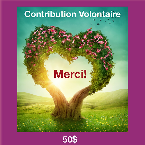 Contribution Volontaire 50$