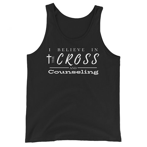 Cross + counseling tank (white lettering)