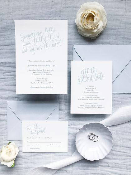 Wedding Invitation Tying the Knot