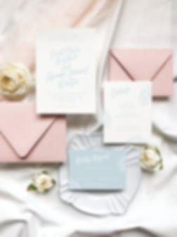 Semi Custom Wedding Invitations Calligraphy