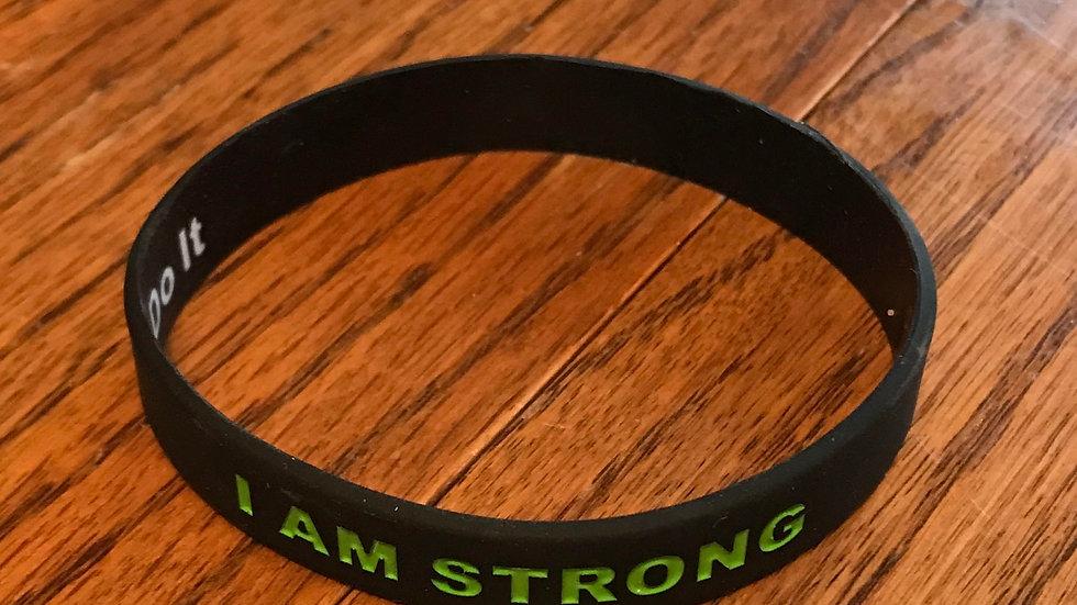 I AM STRONG Bracelet Black