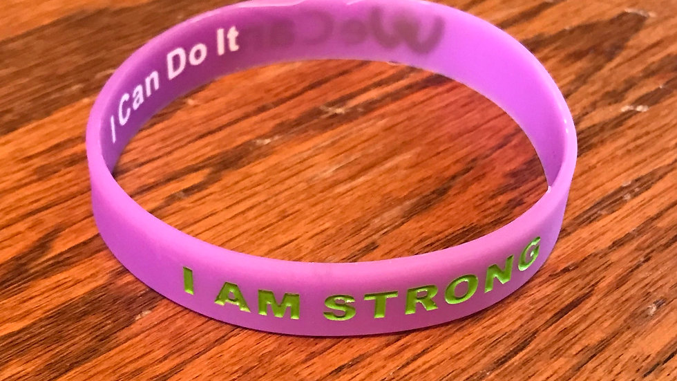 I AM STRONG Bracelet Purple