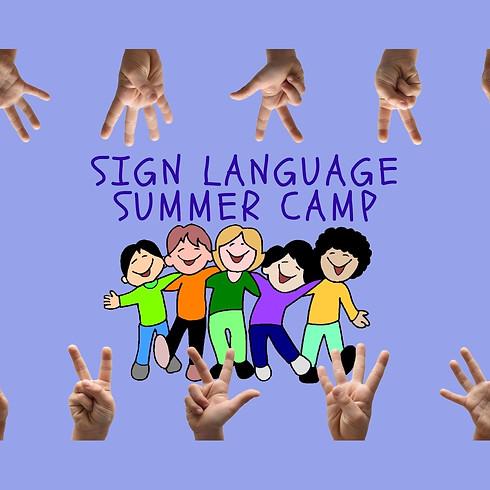 Sign Language Summer Camp