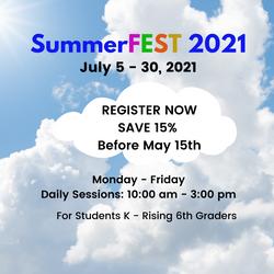 Summerfest - Register Now