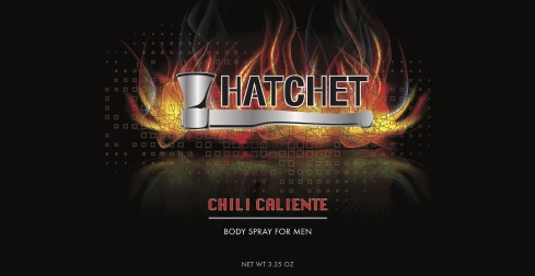 Hatchet Body Spray Can Wrap