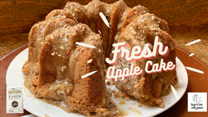 White Lilys Apple Cake with Butter Pecan Glaze my way!