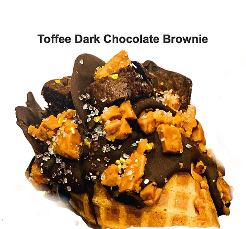 Toffee Dark Chocolate Brownie Cheesecake Cone (2)
