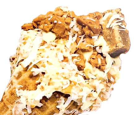 Toffee Brownie Cashew Coconut Cheesecake Cone (2)