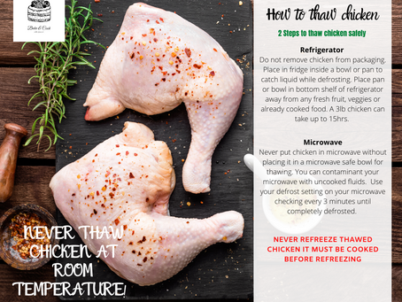 Two steps to thaw chicken safely