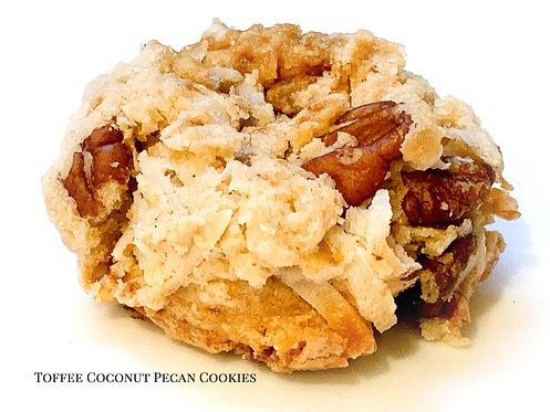 Toffee Coconut Pecan Cookies
