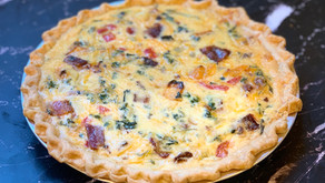 Butternut Squash Quiche with brown sugar bacon and kale