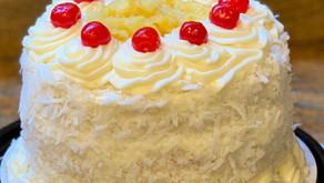 Pineapple Coconut Cake with Cheese Cake Mousse