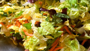 Asian salad with fresh made dressing