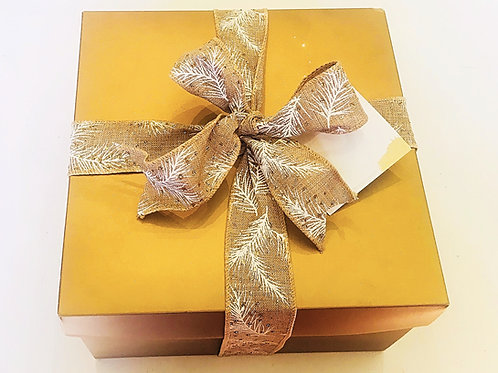 Gold Assorted  Gift Box (toffee, brownies, popcorn and cookies)
