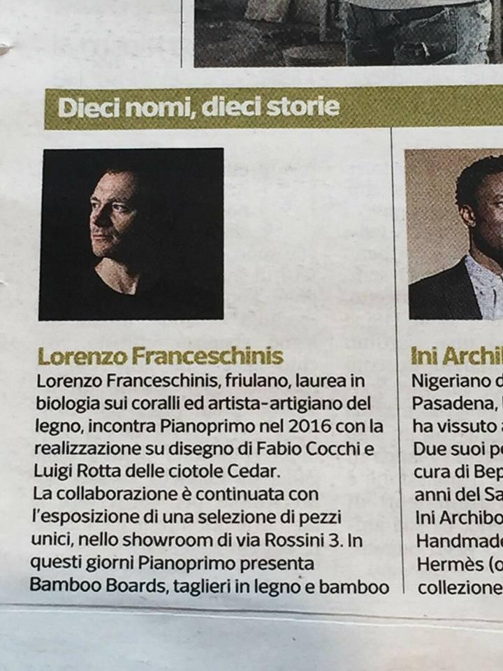 Lorenzo Franceschinis, as featured in Design