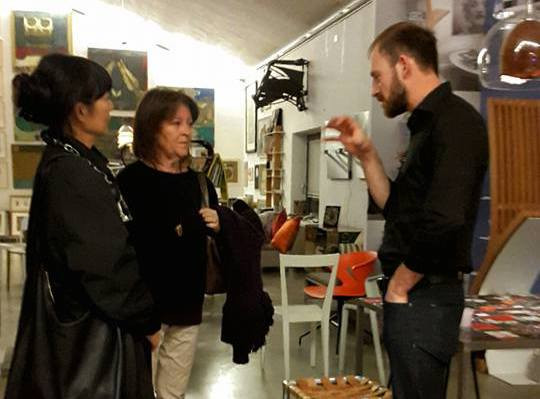 Meeting the public at the Rossini Art & Design Hub