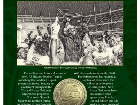 UAB football's Return is now a work of art