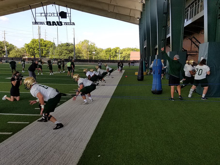 UAB Football scrimmaging on campus again today