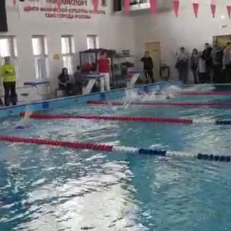 Соревнование по плаванию (спорт глухих) района Северное Медведково СВАО города Москвы