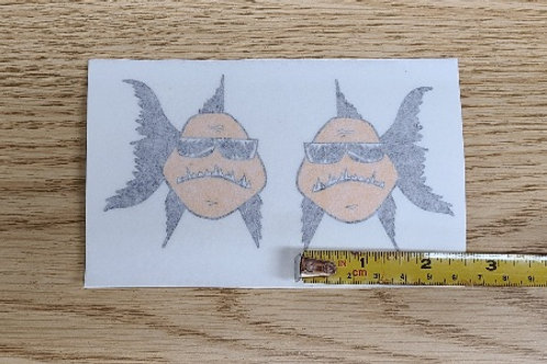 Small BDB Fish Decals - Left and Right Facing