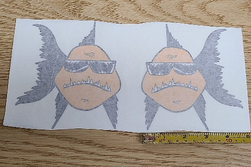 Large BDB Fish Decals - Left and Right Facing