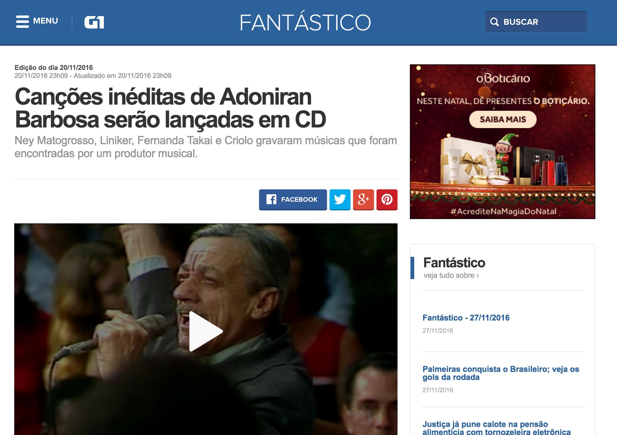 Rede Globo - Fantástico