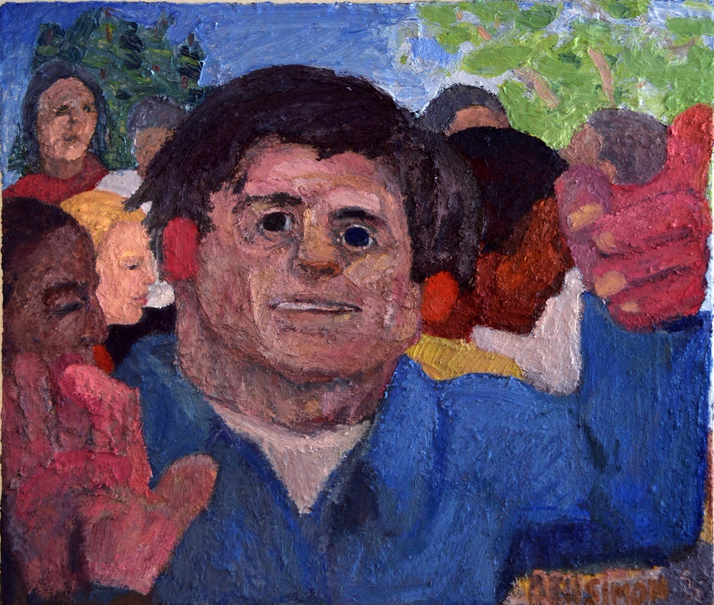 Figure In A Crowd