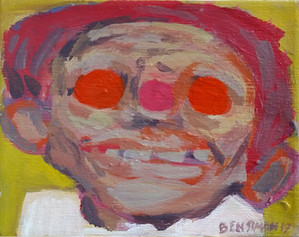 Untitled Head with Pink Nose, 28 x 22 ac