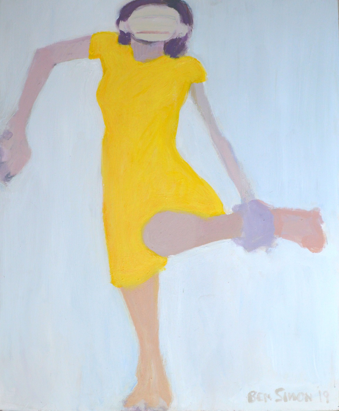AnkleGrab Yellow Dress