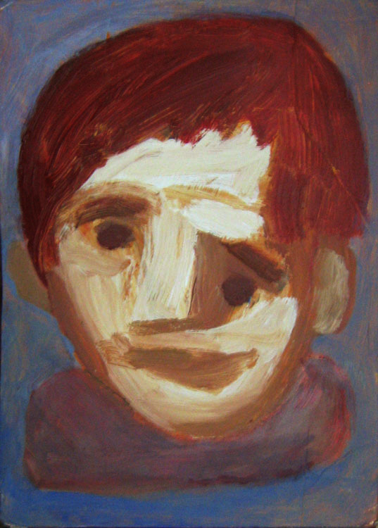 Head With Red Hair