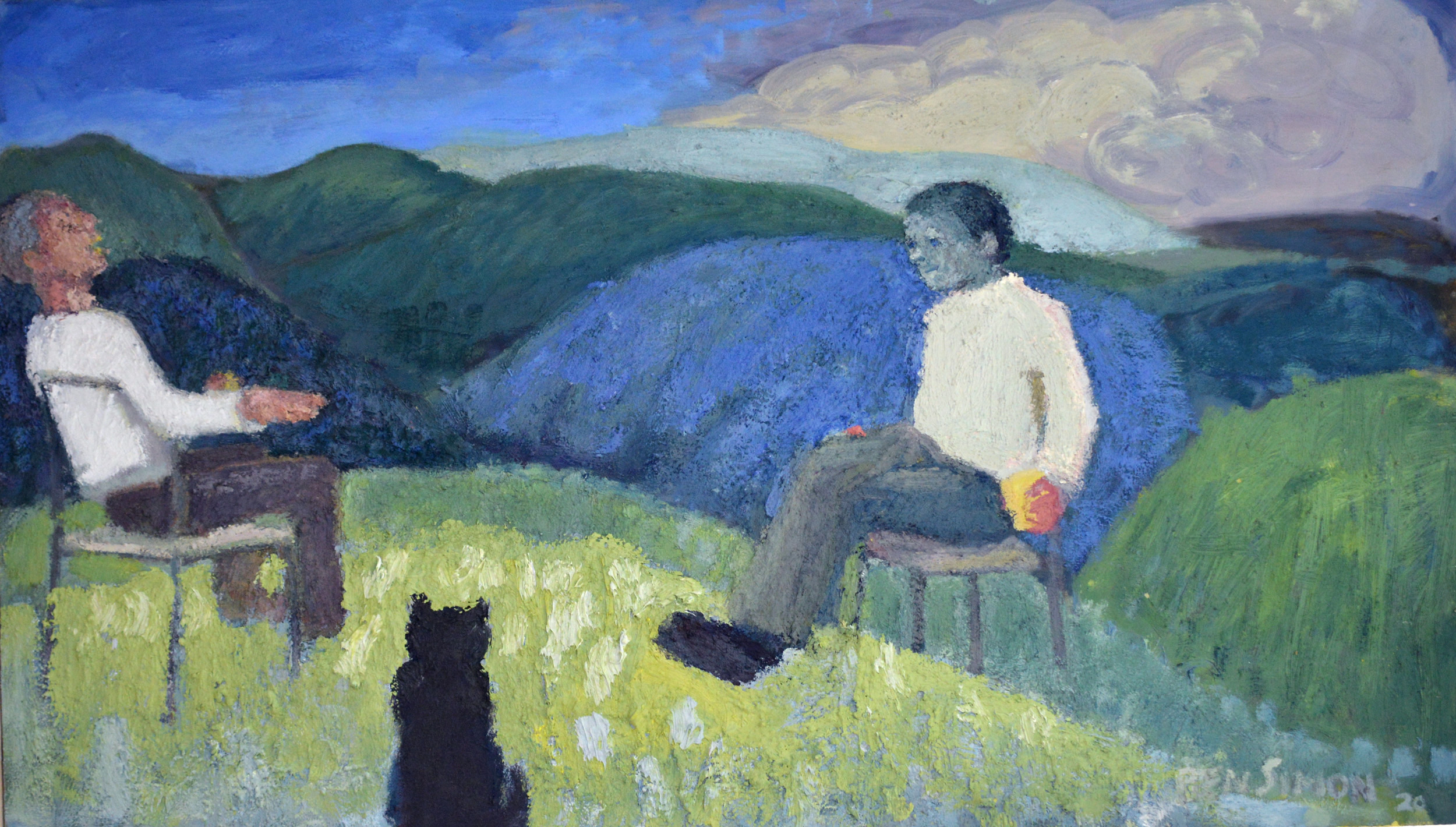 Conversation on a Hill