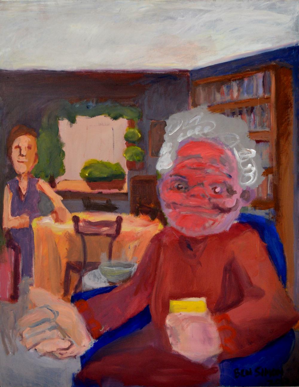 Livingroom Ladies, acrylic on canvas