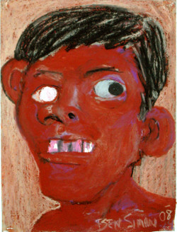 Brown Face White Eye