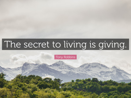 Giving Is Better Than Receiving