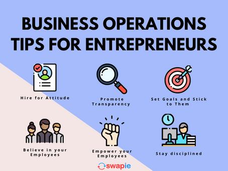 Business Operations Tips for Entrepreneurs