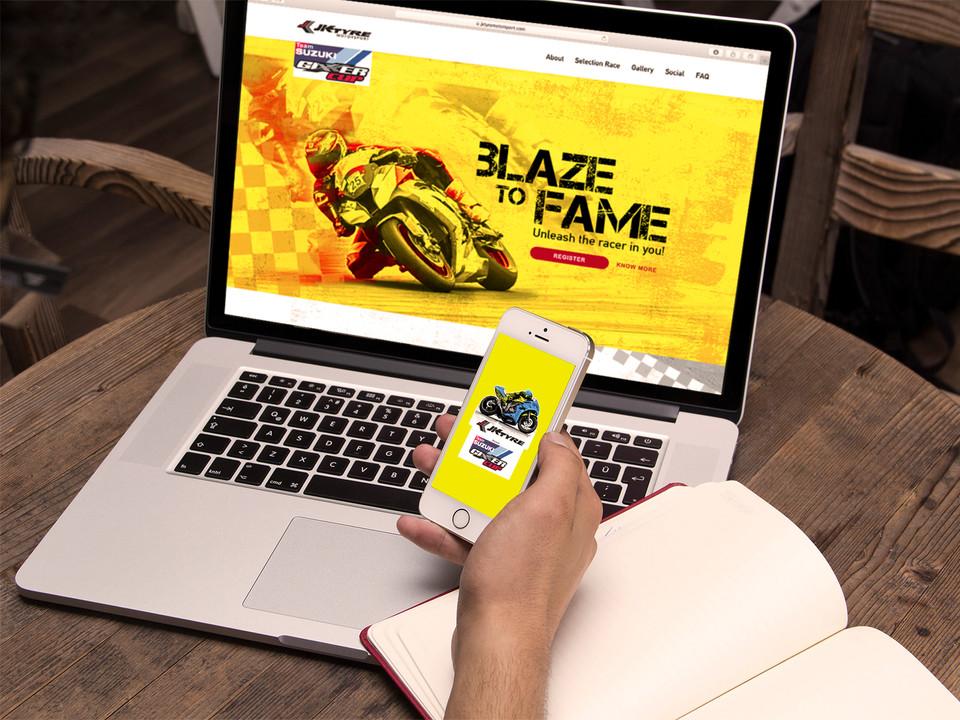 JK Tyre Suzuki Gixxer Cup Website