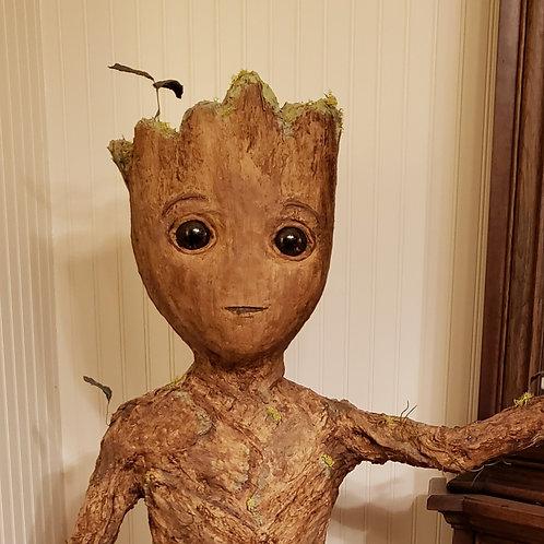 Baby Groot Like Sculpture