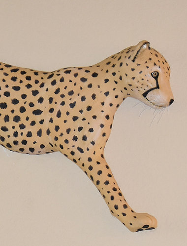 Wall mounted Leaping Leopards