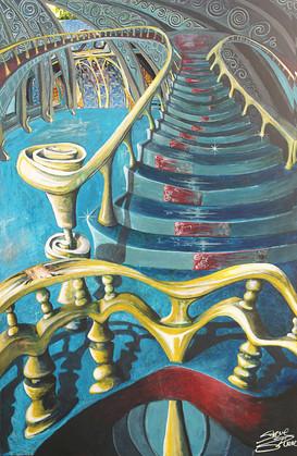 Escaliers du château Kassot
