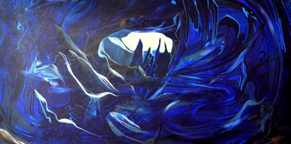 Caverne bleue profonde