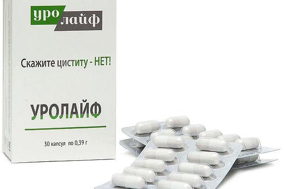 """Капсулы """"Уролайф"""" для комбинированного лечения хронического цистита"""